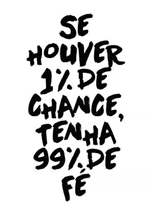 Placa Decorativa 1% de Chance