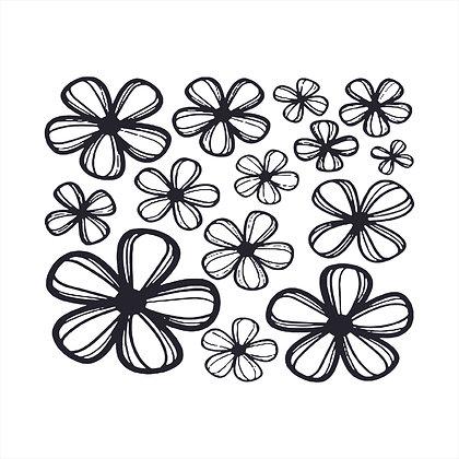 Adesivo de Recorte Flores 50x40cm