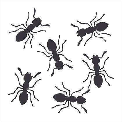 Adesivo Recorte Formigas 12x5cm (cada)