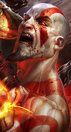Placa Decorativa Kratos