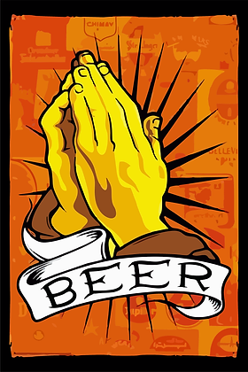 Placa Decorativa Beer Hands