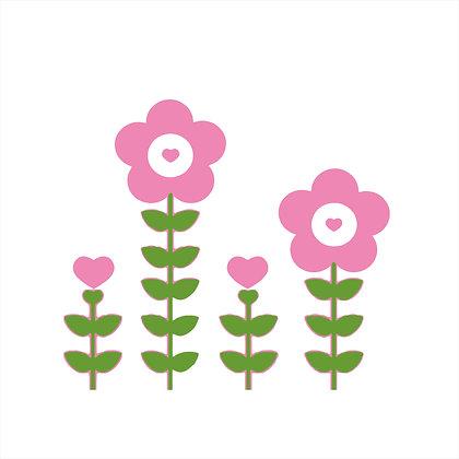 Adesivo de Recorte Flor 20x20cm