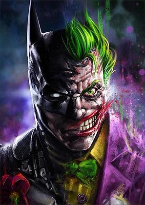 Placa Decorativa Batman and Joker