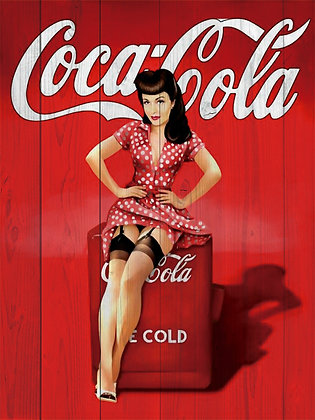 Placa Decorativa Coca Cola