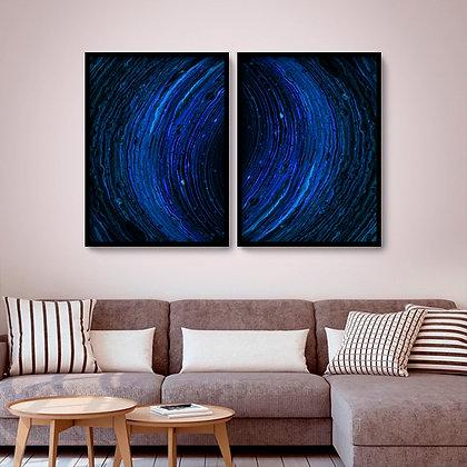 Quadro com moldura Galáxia