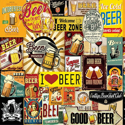 Placa Decorativa I Love Beer