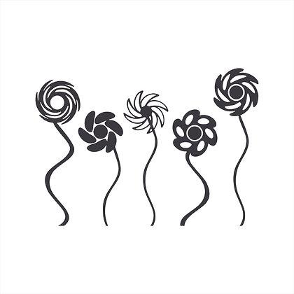 Adesivo de Recorte Flores 50x35cm