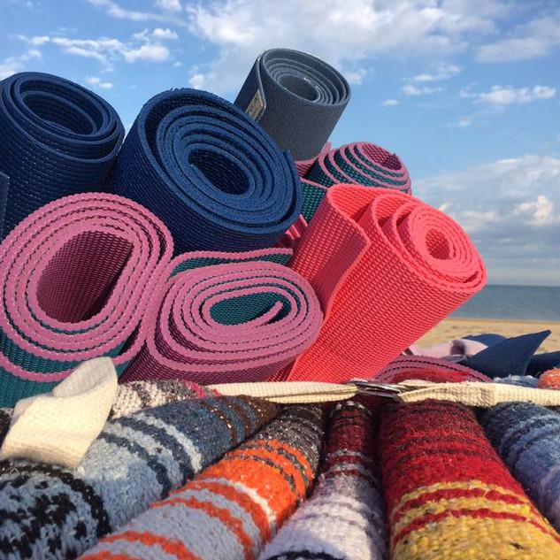rolled mats closeup on beach.jpg