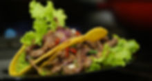 prato tacos frutos de mar camarões carnes