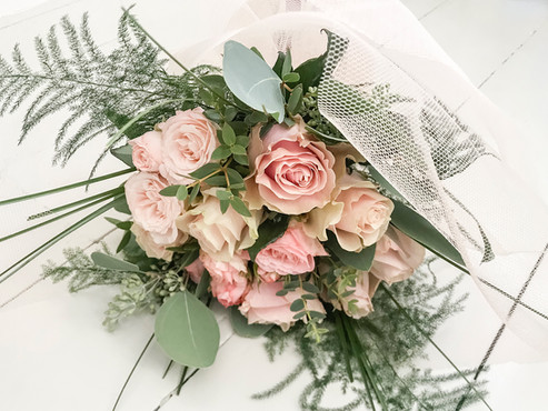 Garden Rose and Soft Foliage