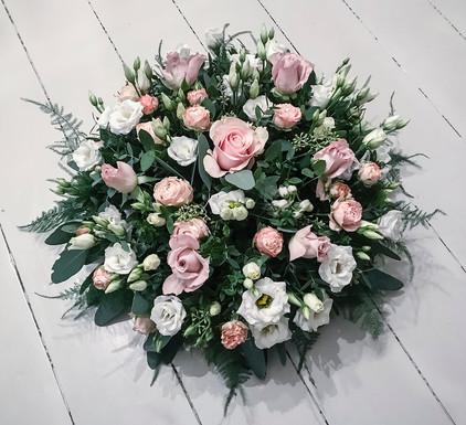Rose, Lisianthus and Delphinium