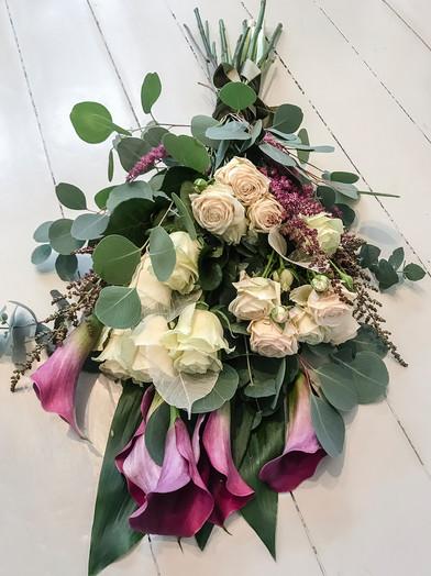 Calla, Garden Rose and Astilbe
