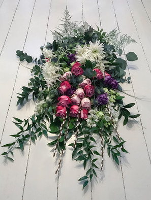 Rose, Lisianthus and Pussy Willow