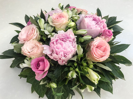 Peony, Rose and Alstroemeria