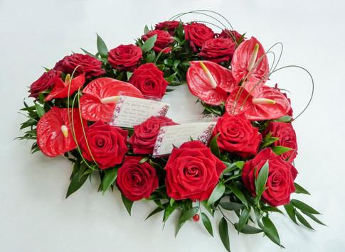 Anthurium and Rose