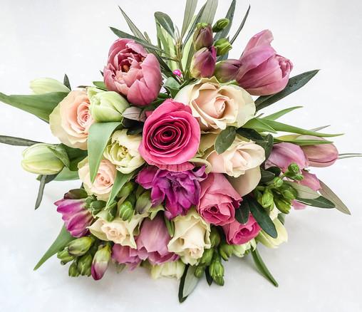 Blush Rose and Tulip