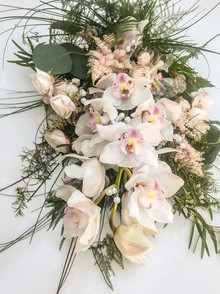 Cymbidium Orchid, Astilbe and Rose