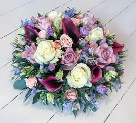 Rose, Calla and Delphinium