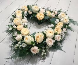 Garden Rose and Delphinium