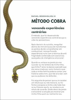 Mídia kit Rafael Cobra Método Cobra