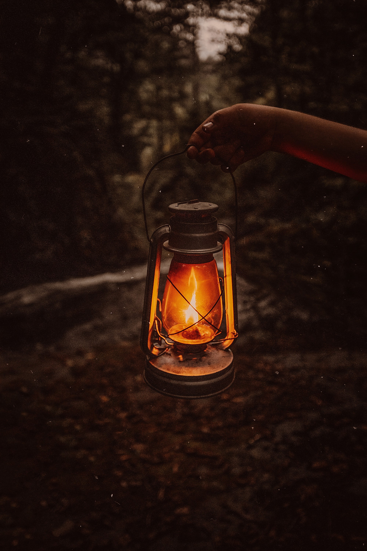 Dark Fantasy Prompt - Creepy Lantern in Dark Forest