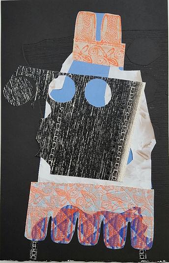 Helen Hayward, Helen Hayward artist, x-ray specs, mixed media print