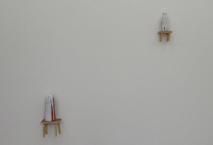 Helen Hayward Artist, Ceramic, ceramic installation, floating tables, chocolate knobs, ceramic knobs