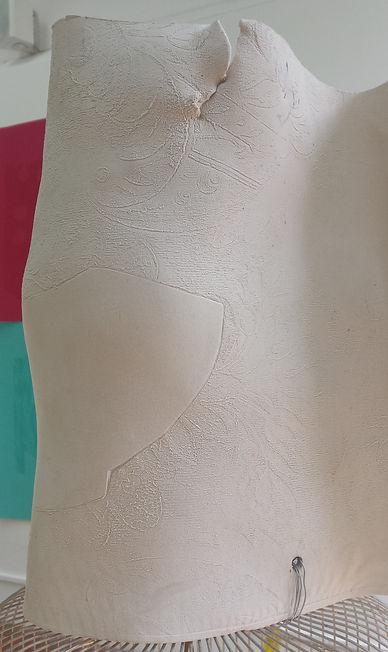 Helen Hayward artists, female figure, ceramic, head, visa