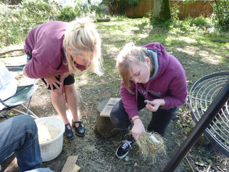 Pupils practice bushcraft and survival skills
