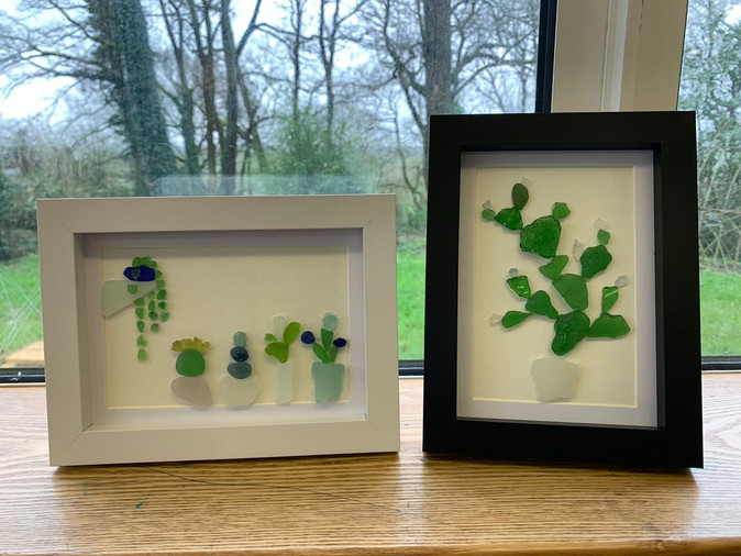 Pupil gives sea glass hoard a new lease of life