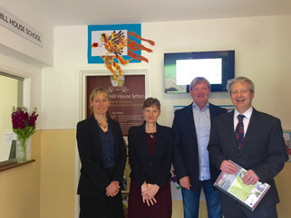 Council chief executive receives tour of Highgate Hill House School's facilities