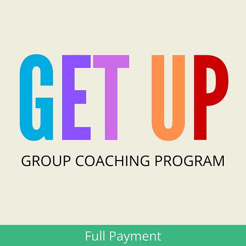 GET UP Group Coaching Program (FULL PAYMENT)