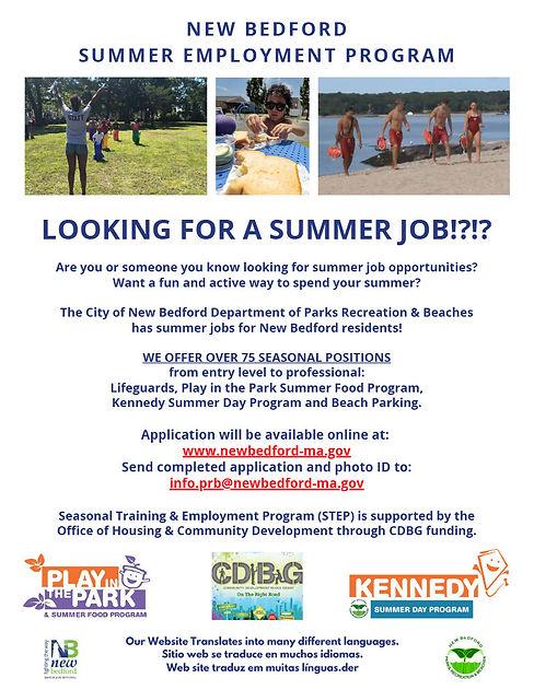 NEW BEDFORD SUMMER EMPLOYMENT PROGRAM102
