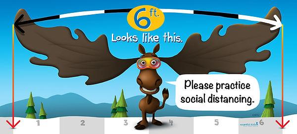 36x80_6 feet social distancing moose_pri