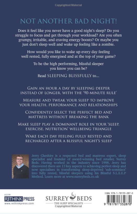 Sleeping Blissfully Back Cover