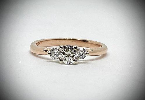 Past, Present, Future Diamond Ring