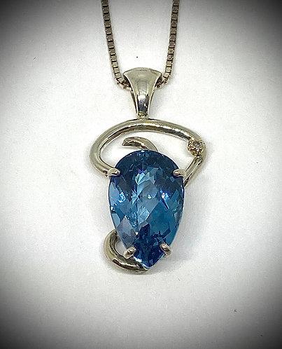 Blue Topaz & Diamond