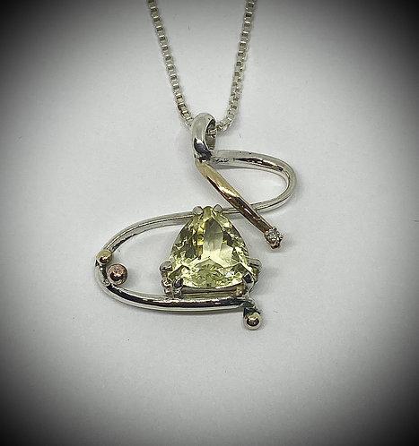 Prasiolite & Diamond