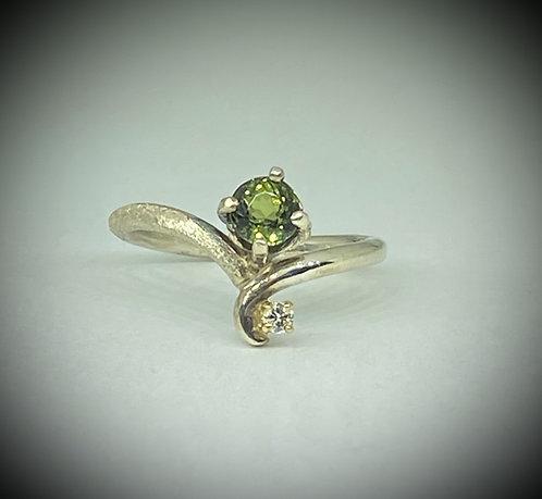 Green Tourmaline & Diamond