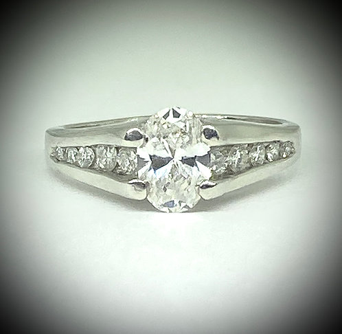 Platinum Split Channel Diamond Ring