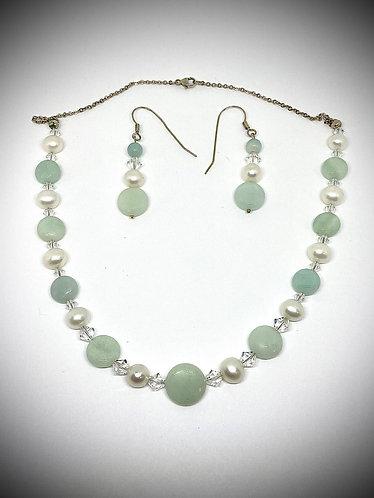 Amazonite & Pearl