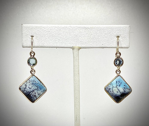 Blue Dendrite Opal & Blue Topaz