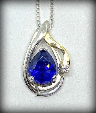 Lab Sapphire & Diamond