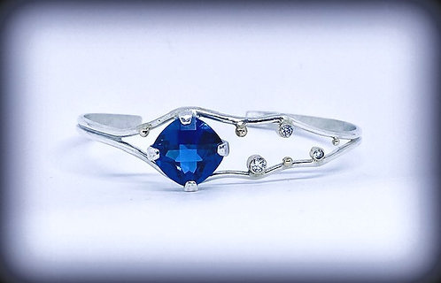 Lab Blue Zircon & Lab Diamonds