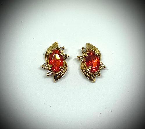 Mexican Fire Opal & Diamonds