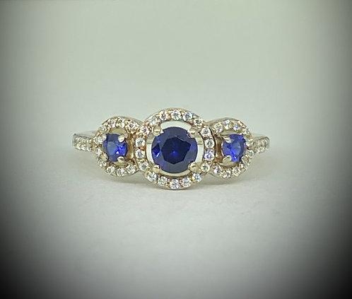 Created Sapphires & CZ's