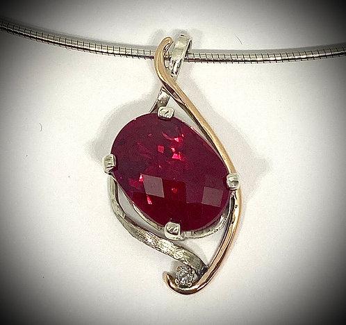 Red Topaz & Diamond