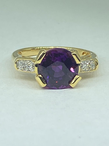 Created Purple Sapphire & Diamonds