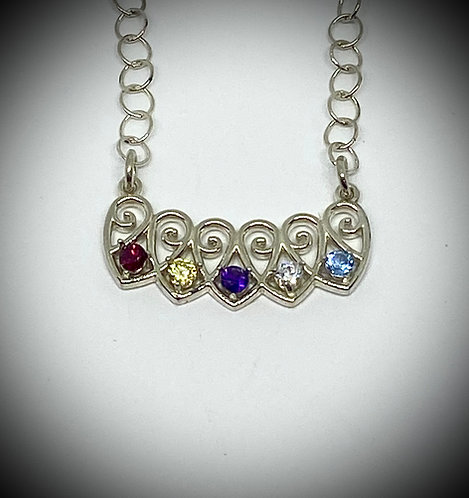 Five Hearts Pendant