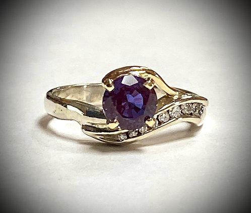 Created Alexandrite & Diamonds